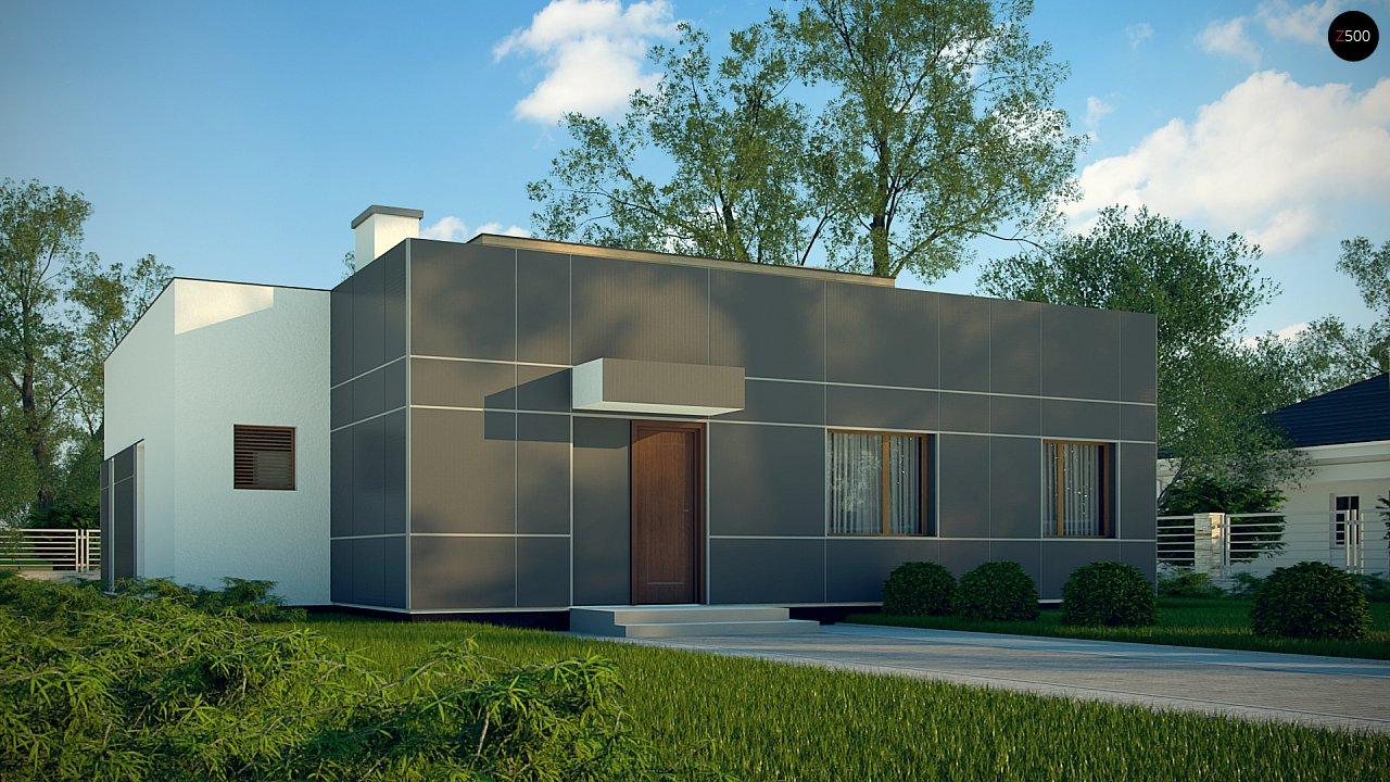 Одноэтажный дом в стиле современного минимализма 9