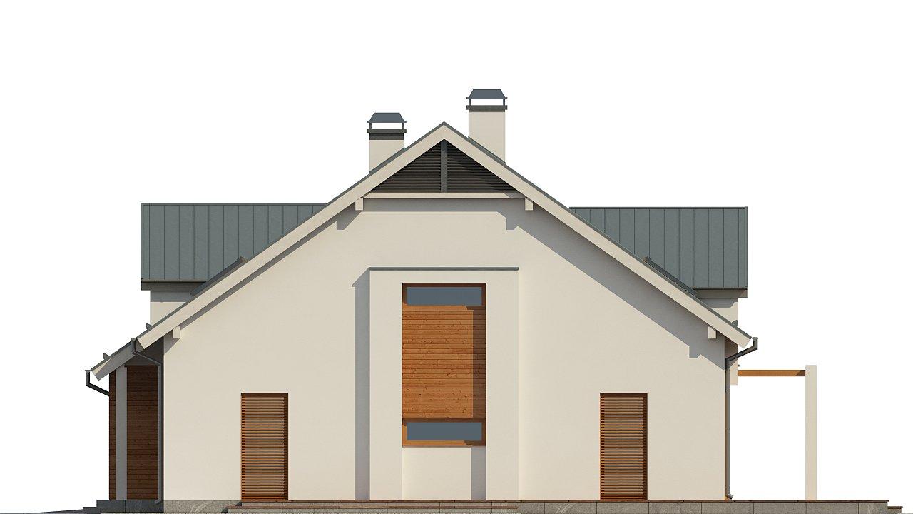Дом традиционной формы с элегантными современными элементами в архитектуре. - фото 4