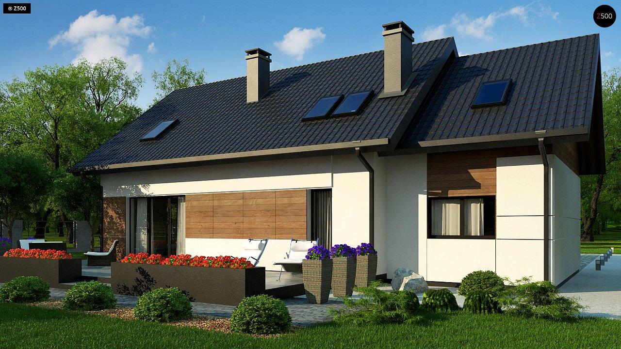 Красивый дом в традиционном стиле архитектуры, с комнатой на пером этаже и гаражом. - фото 1