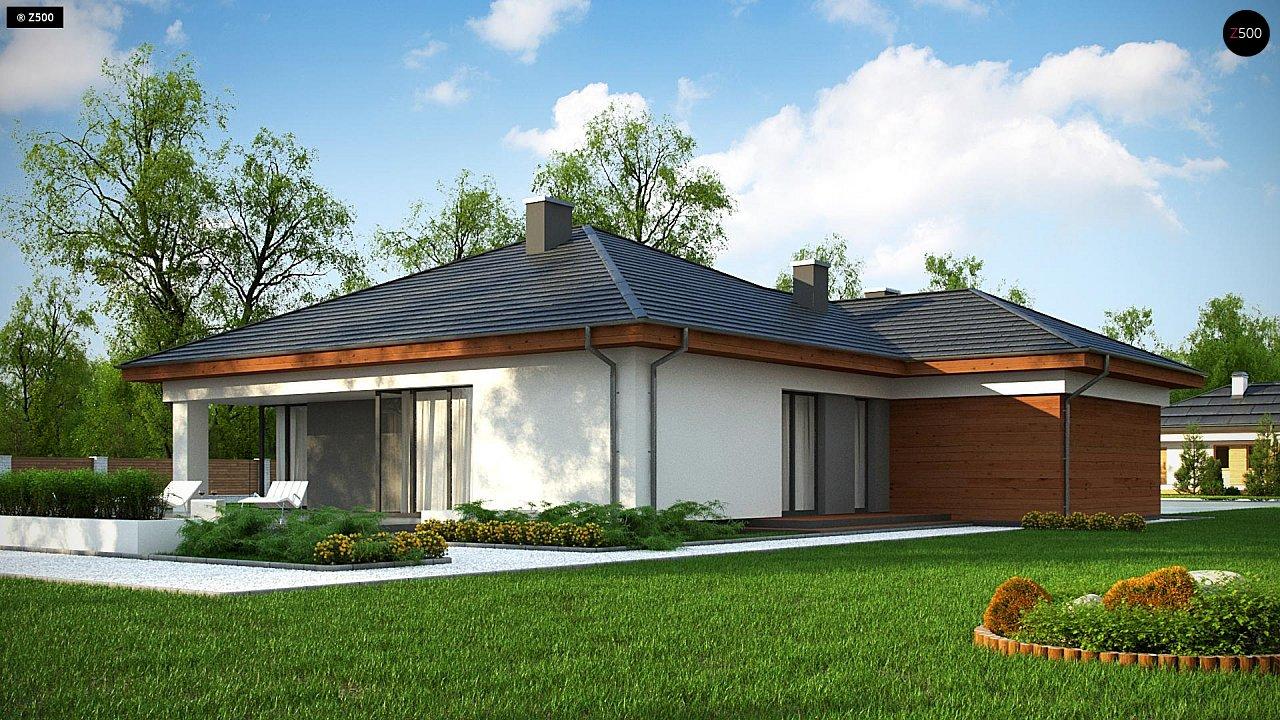 Проект комфортного одноэтажного дома с гаражом для двух авто. 6