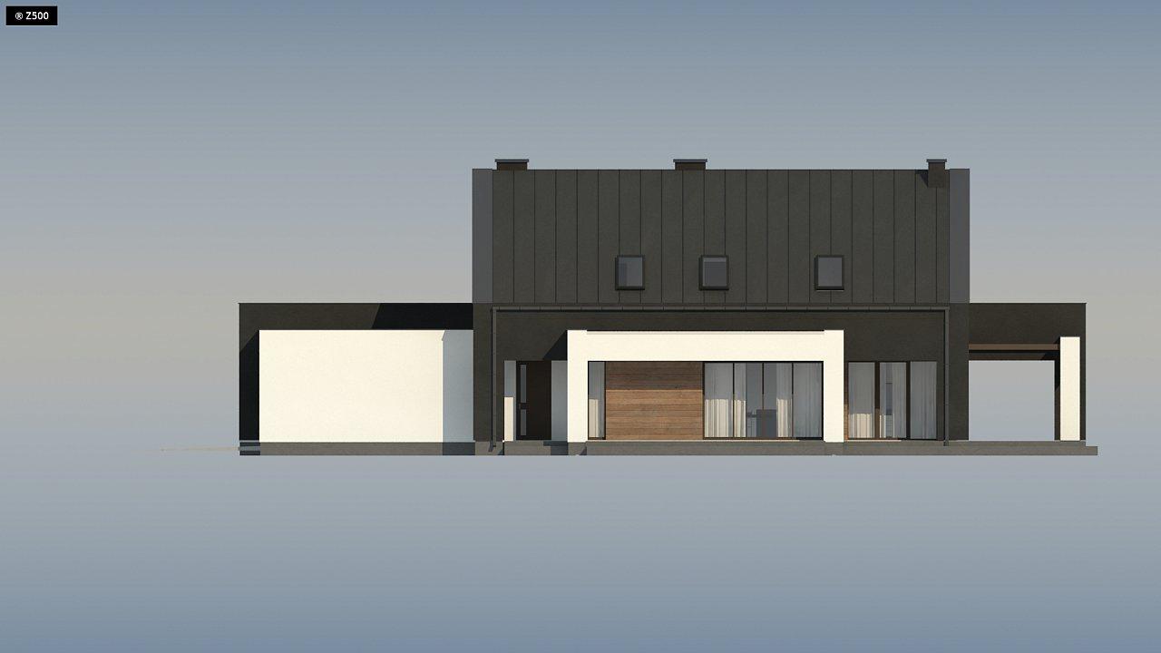 Проект удобного и красивого мансардного дома с гаражом на 2 машини и 3 спальнями. 16