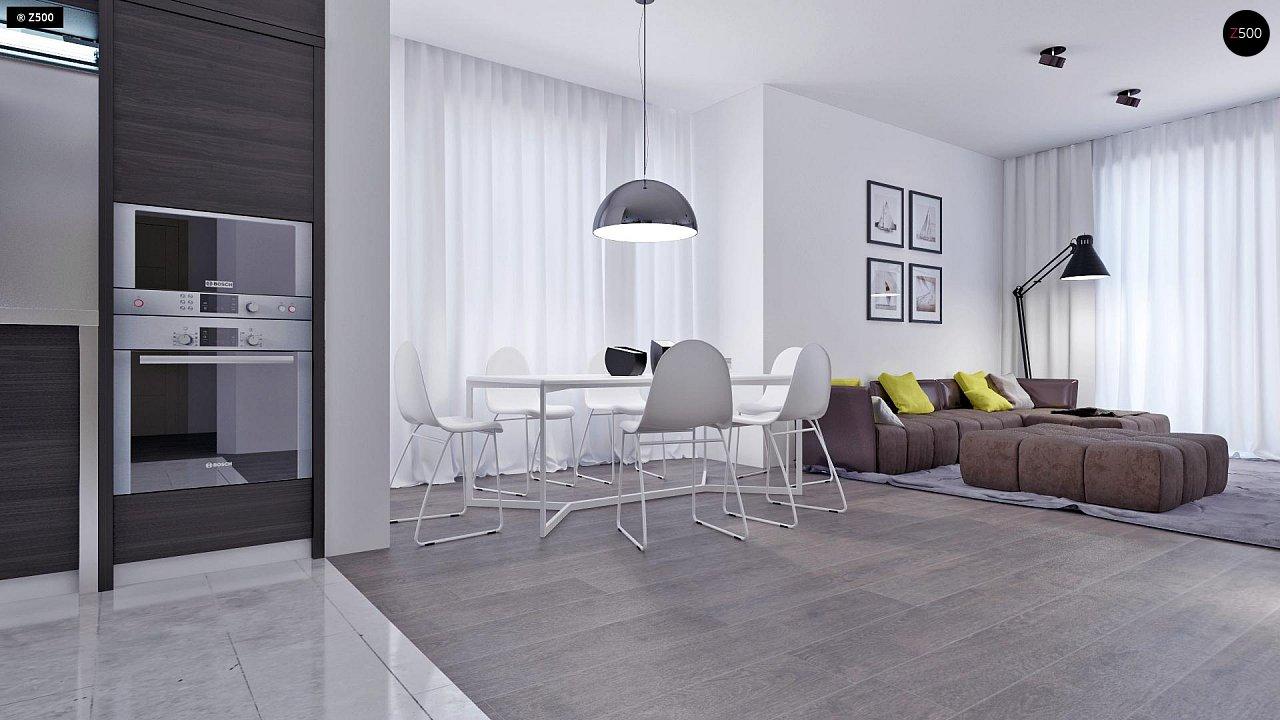 Проект функционального и удобного дома с комнатой над гаражом. 3