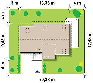 Традиционный практичный дом с современными элементами архитектуры. план помещений 1