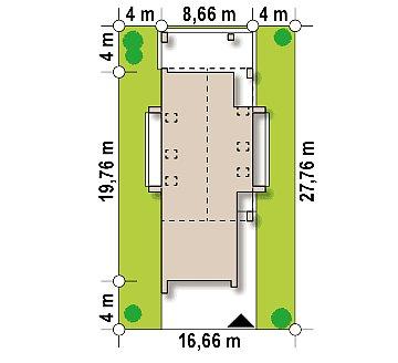 Проект удобного и красивого мансардного дома с гаражом на 2 машини и 3 спальнями. план помещений 1
