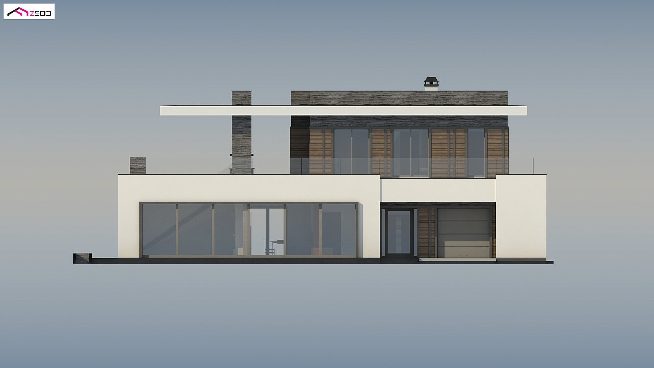 Стильный дом в современном стиле с просторной террасой на втором этаже. 7
