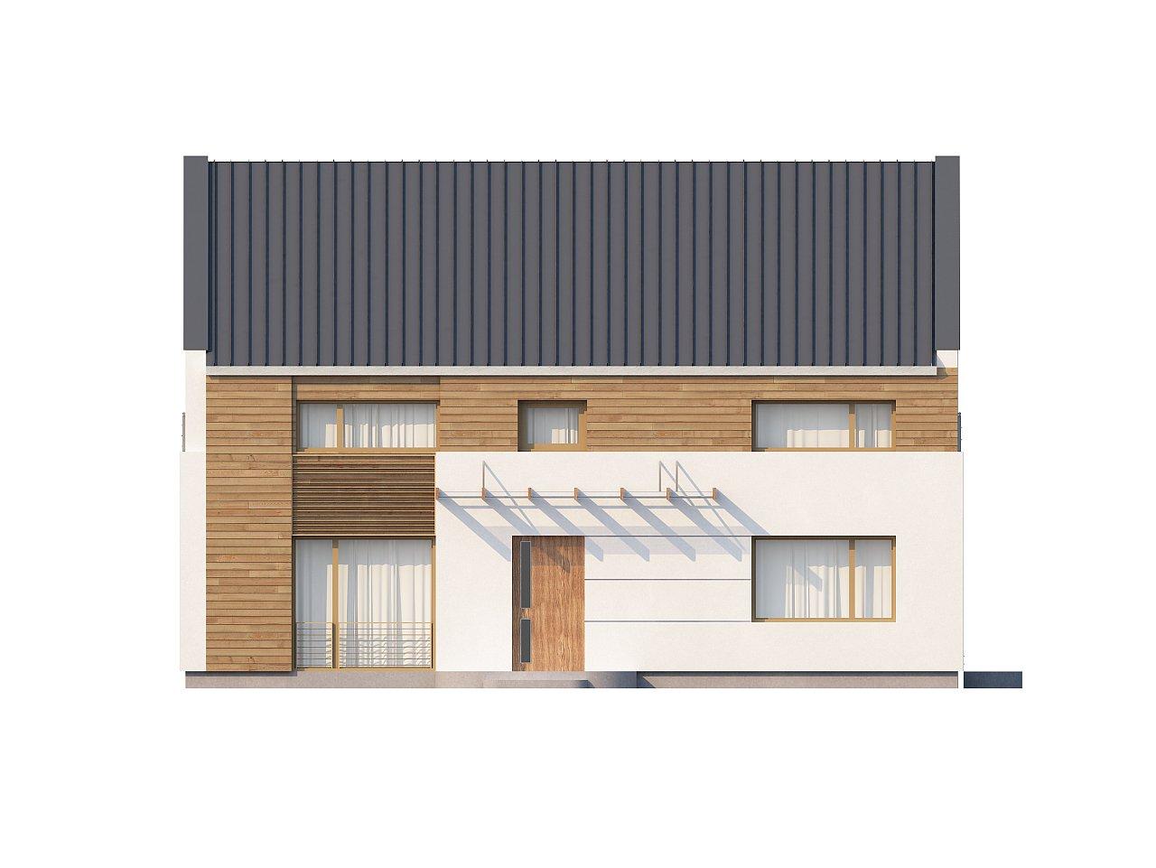 Энергоэффективный дом оригинального дизайна с просторной гостиной. - фото 3