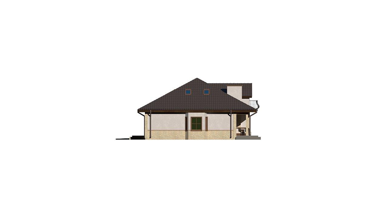 Версия проекта Z10 с гаражом с левой стороны, мансардой и балконом. 22
