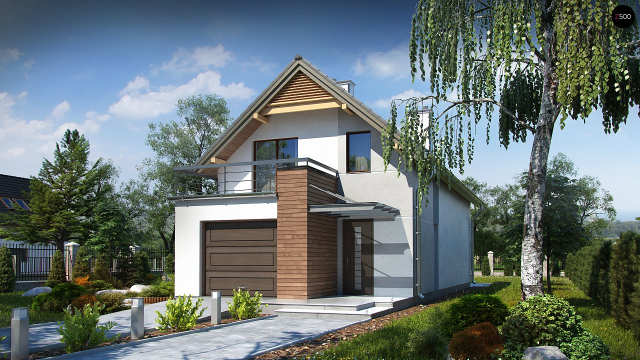 Функциональный и привлекательный дом с гаражом для узкого участка. 3