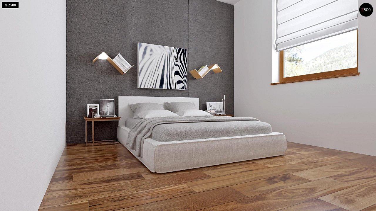 Аккуратный одноэтажный дом с деревянной облицовкой фасадов, адаптированный для каркасной технологии. 7