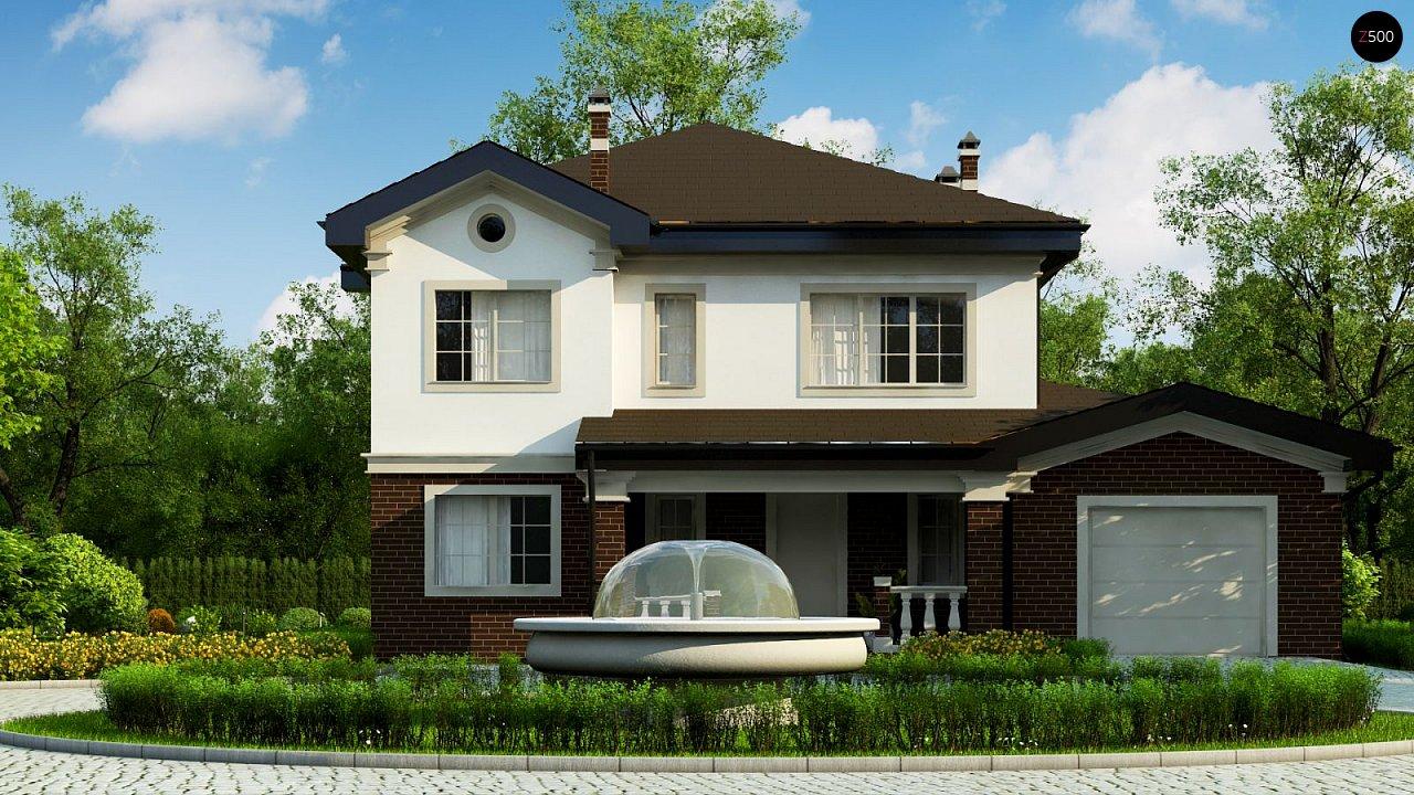Просторный проект двухэтажного дома с удобной планировкой. - фото 4