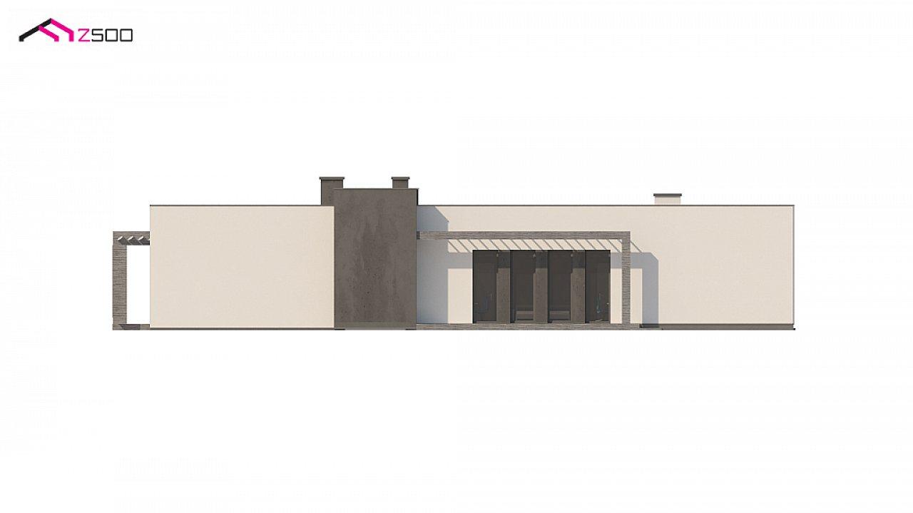 Одноэтажный дом в современном стиле с гаражом на 3 машины, с плоской кровлей 10