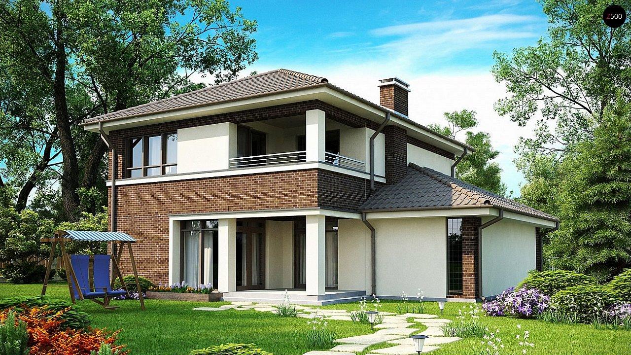Вариант двухэтажного дома Zx24 с плитами перекрытия 2