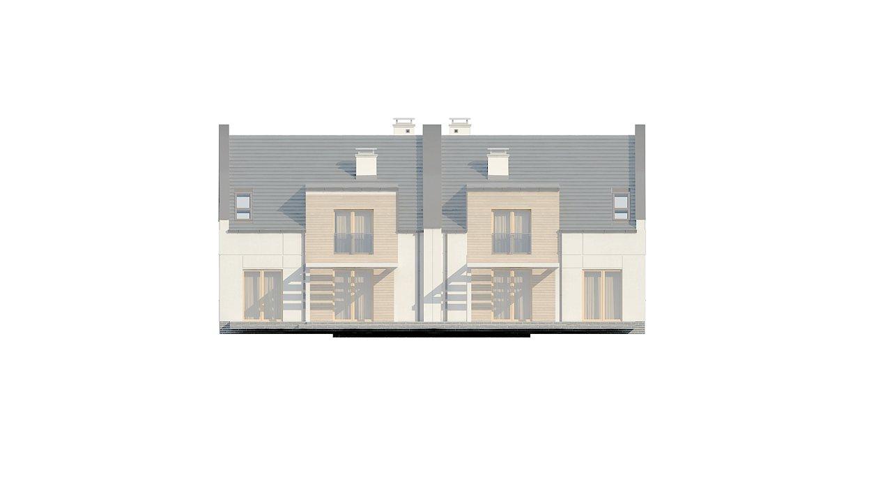 Проект домов для симметричной застройки стильного современного дизайна. 7