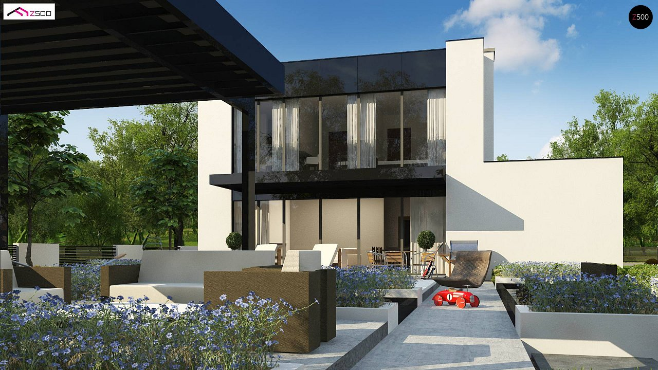 Проект современного односемейного дома с гаражом на одну машину. - фото 6