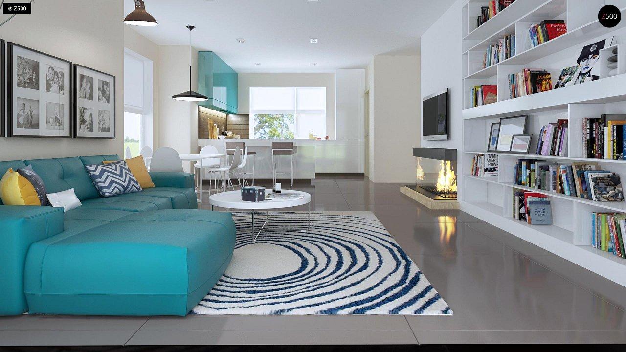 Проект практичного дома с большим хозяйственным помещением, с кабинетом на первом этаже. 5