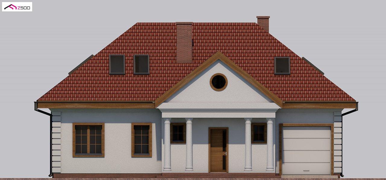 Проект дома в классическом стиле с роскошной мансардой и стильным экстерьером. - фото 17
