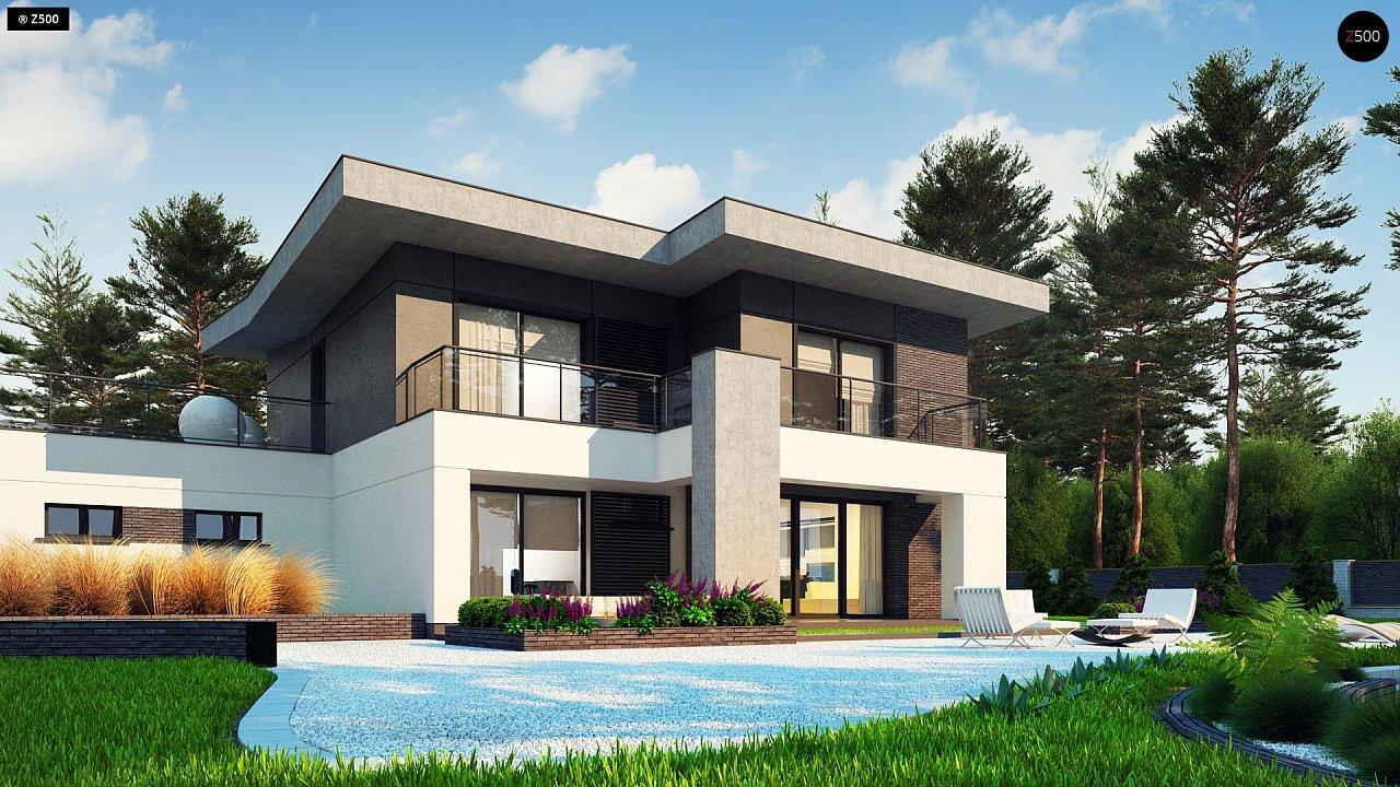 Современный стильный двухэтажный дом, с гаражом для двух машин 6