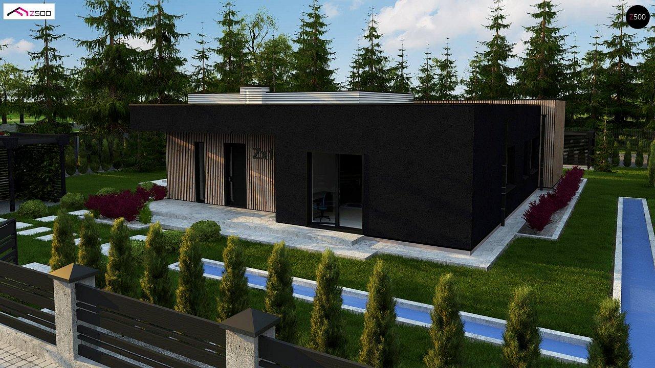 Проект просторного одноуровневого дома с плоской кровлей. - фото 5