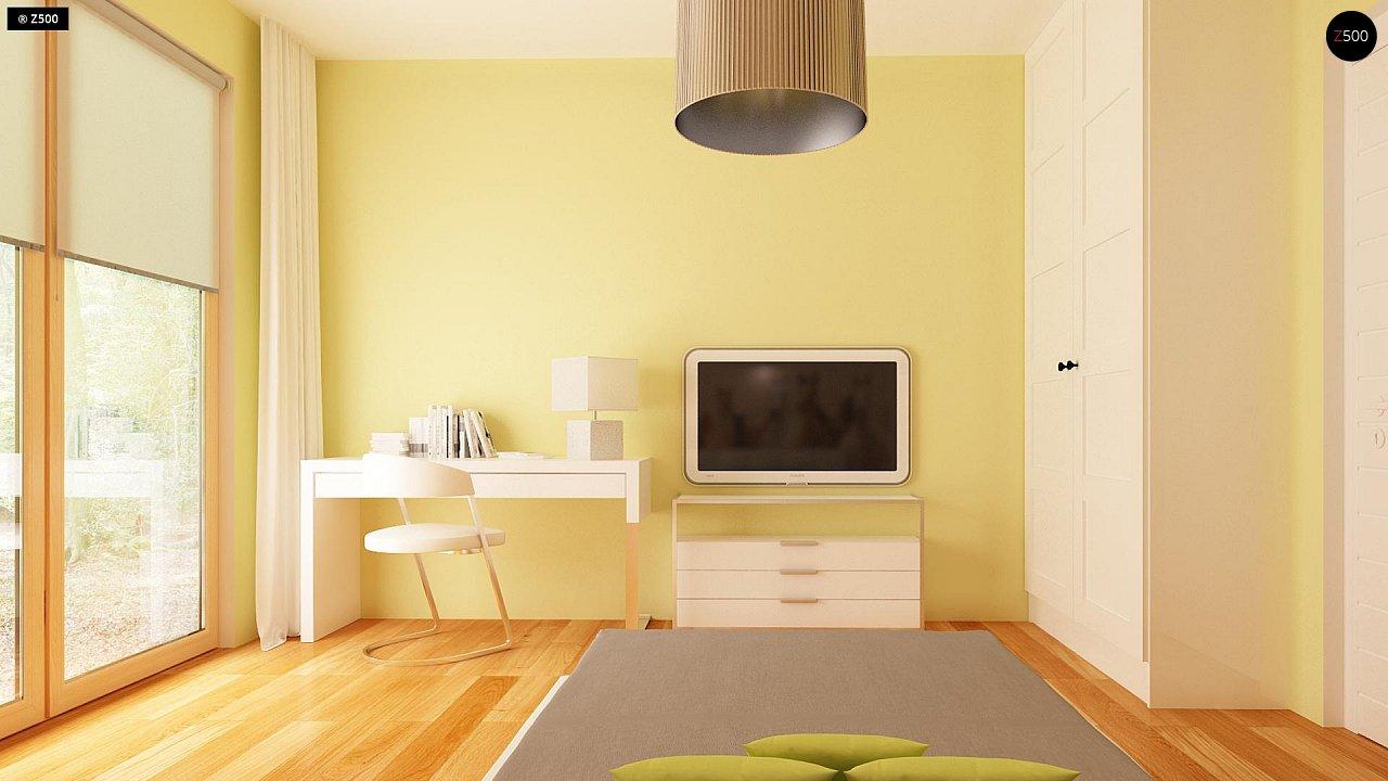 Комфортный элегантный дом с тремя спальнями и выступающим фронтальным гаражом. 11