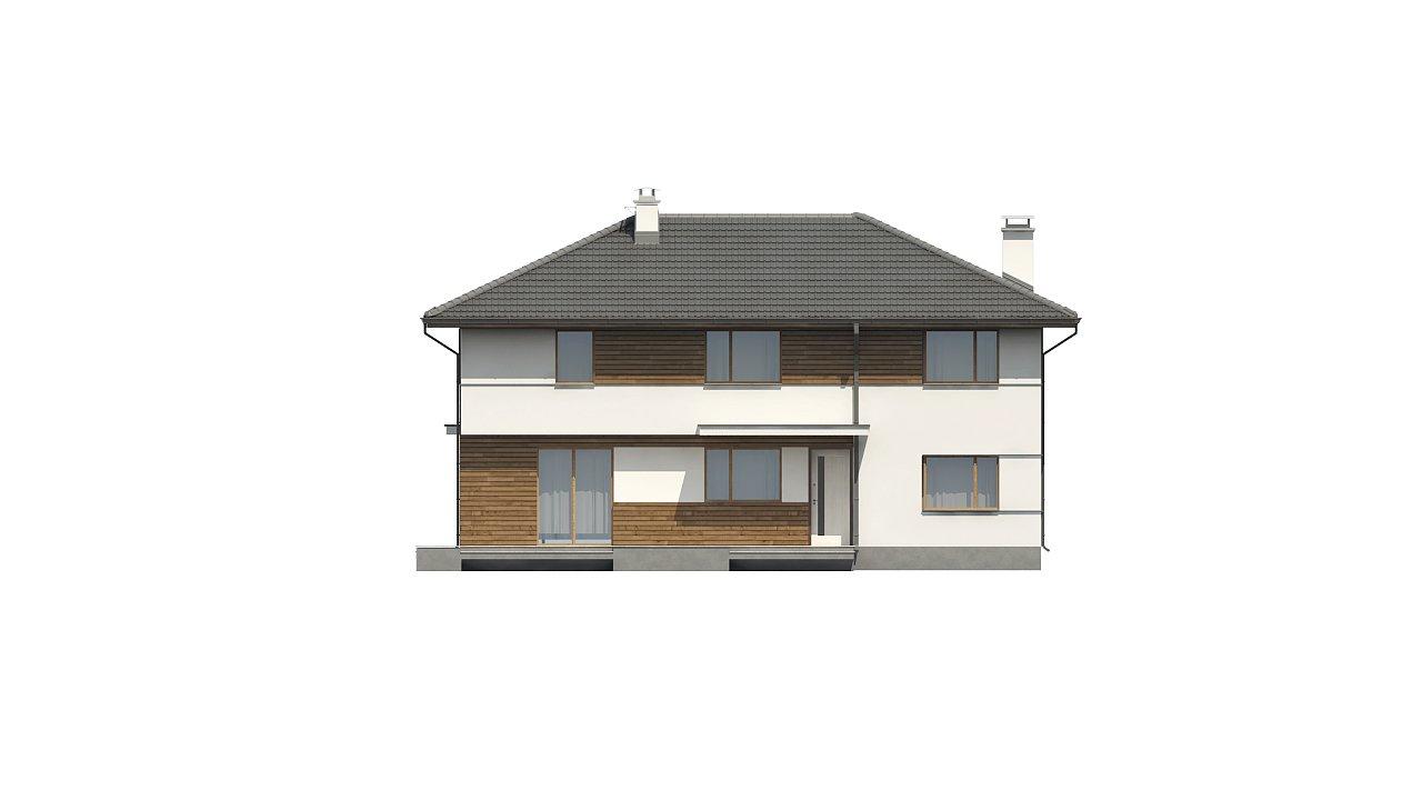 Просторный двухэтажный дом с двумя дополнительными спальнями на первом этаже. 3