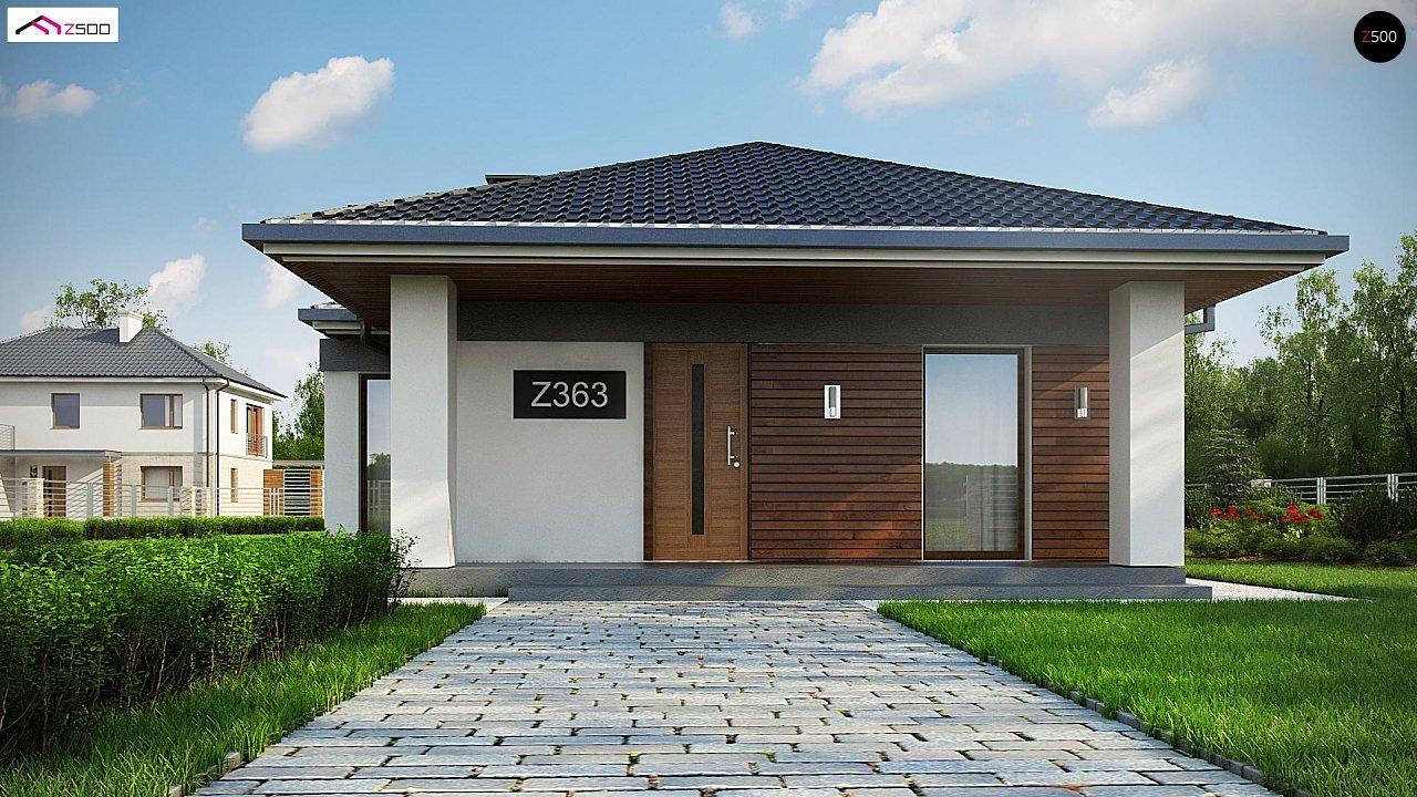 Проект уютного одноэтажного дома с 3 спальнями 3