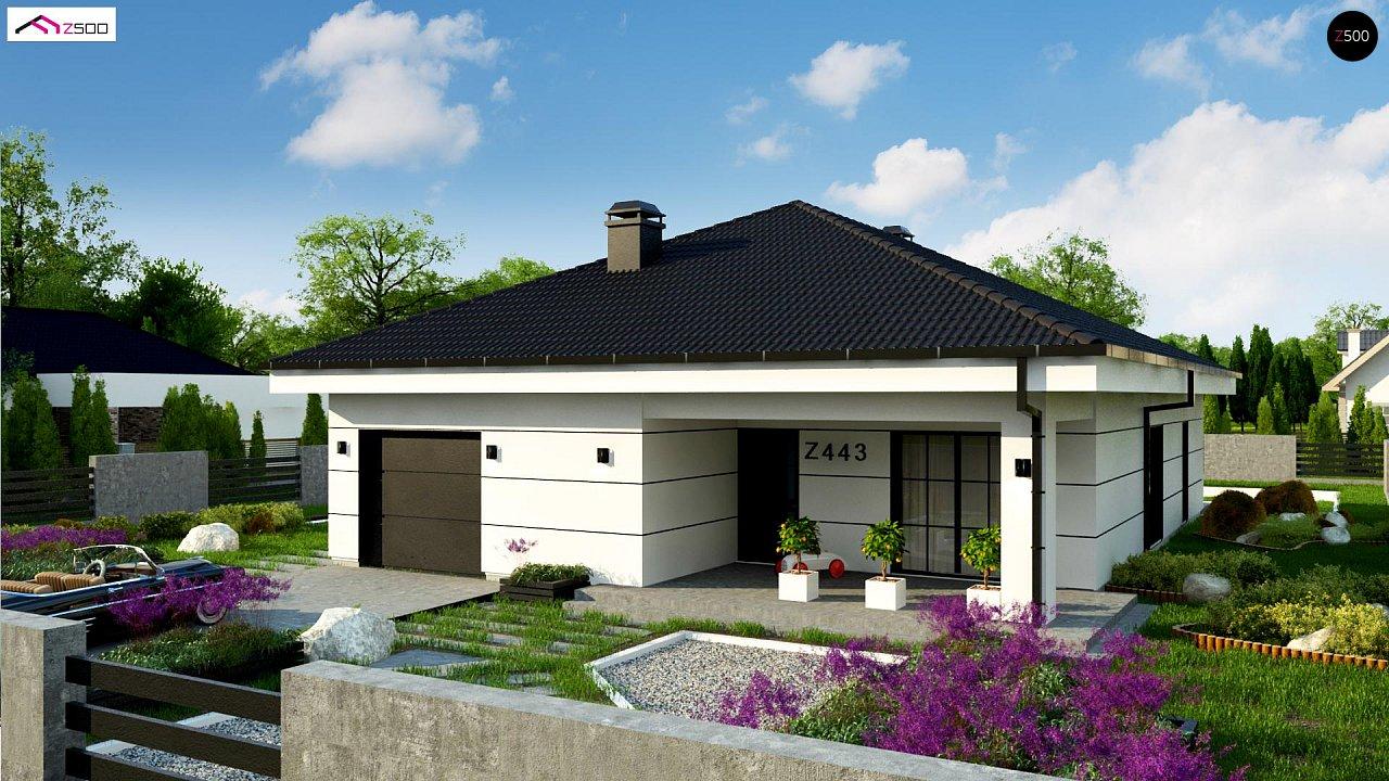 Современный одноэтажный дом с тремя спальнями и гаражом на одну позицию. - фото 3