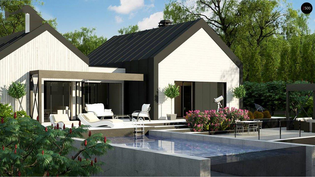 Одноэтажный дом состоящий из двух частей. - фото 4