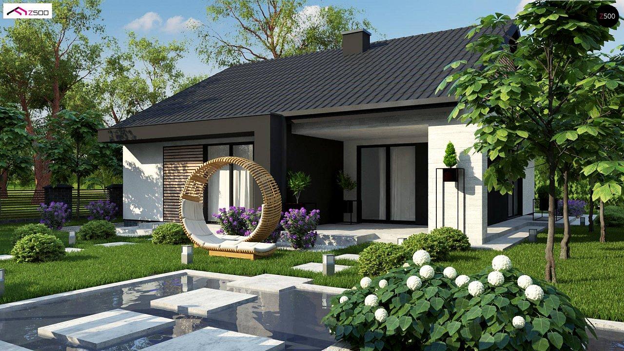 Проект дома с современным дизайном и одноуровневым функциональным интерьером. - фото 1