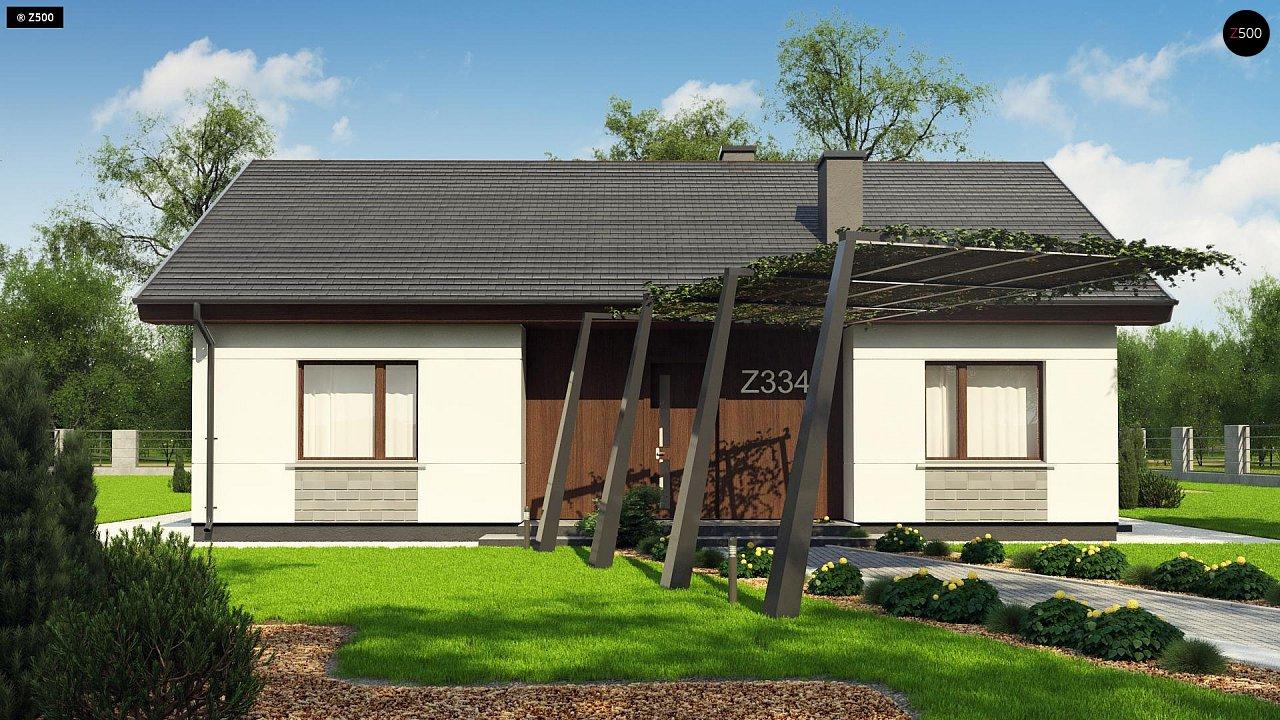 Проект уютного одноэтажного дома с двускатной кровлей. - фото 6