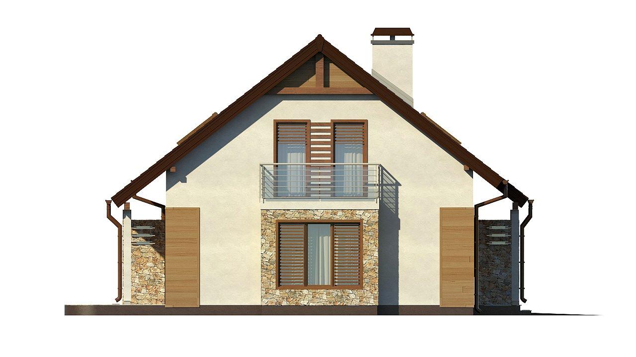 Версия проекта дома Z102 с гаражом, пристроенным справа. 24