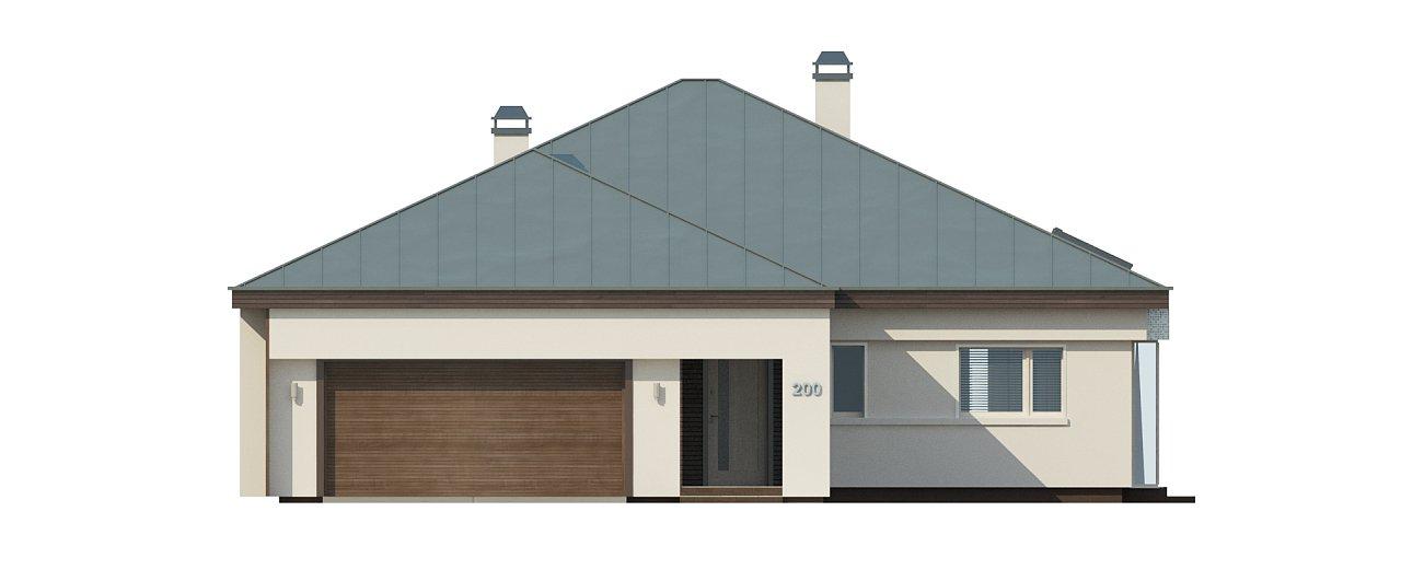 Удобный одноэтажный дом с гаражом для двух автомобилей, с большой площадью остекления в дневной зоне. 29