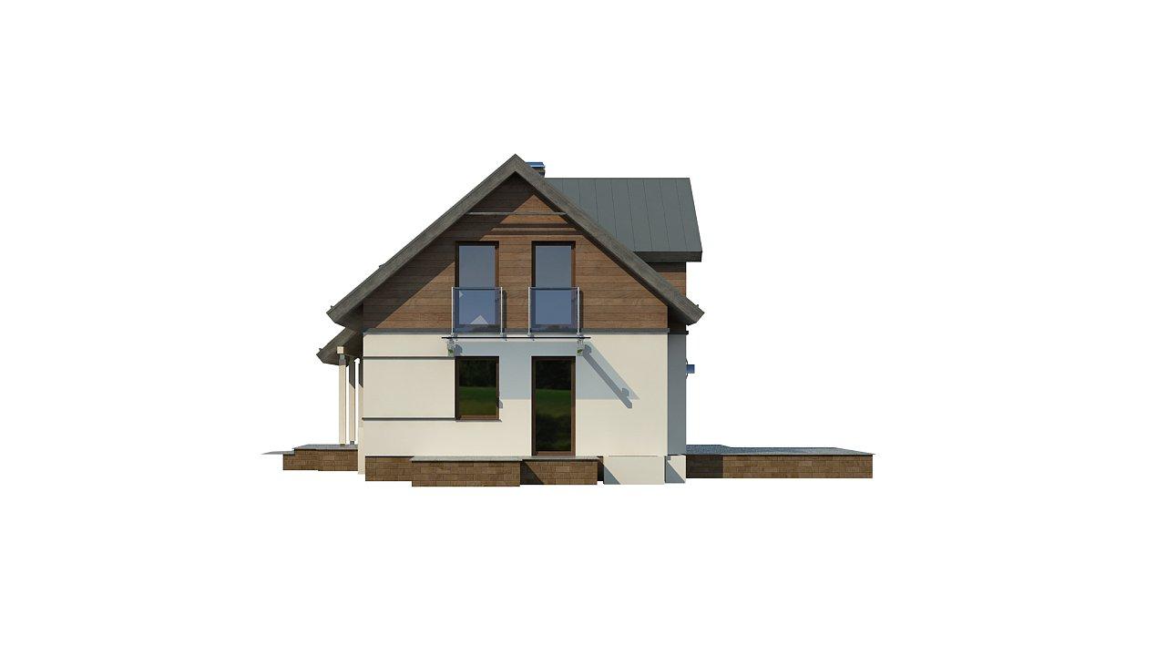 Удобный и красивый дом с красивым окном во фронтоне. 23