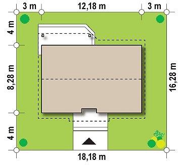 Функциональный и практичный проект дома Z7 в каркасном исполнении план помещений 1
