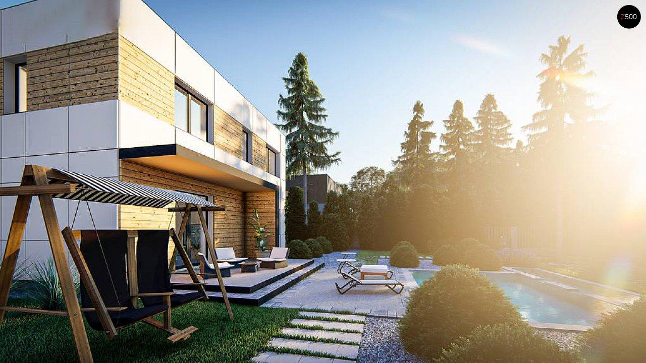 Современный двухэтажный дом с плоской крышей 4