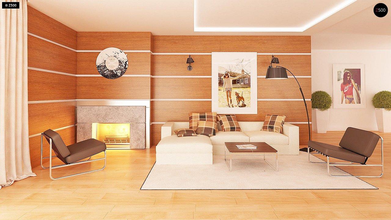 Одноэтажный просторный дом с эркером и крытой террасой. 6