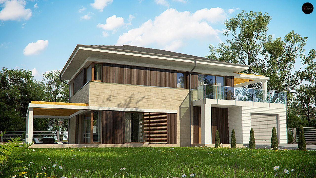 Увеличенная версия проекта современного дома Zx63 B - фото 1
