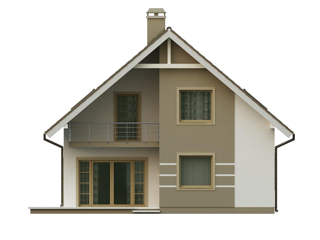 Стильный дом с мансардой, экономичный в строительстве и эксплуатации. 4