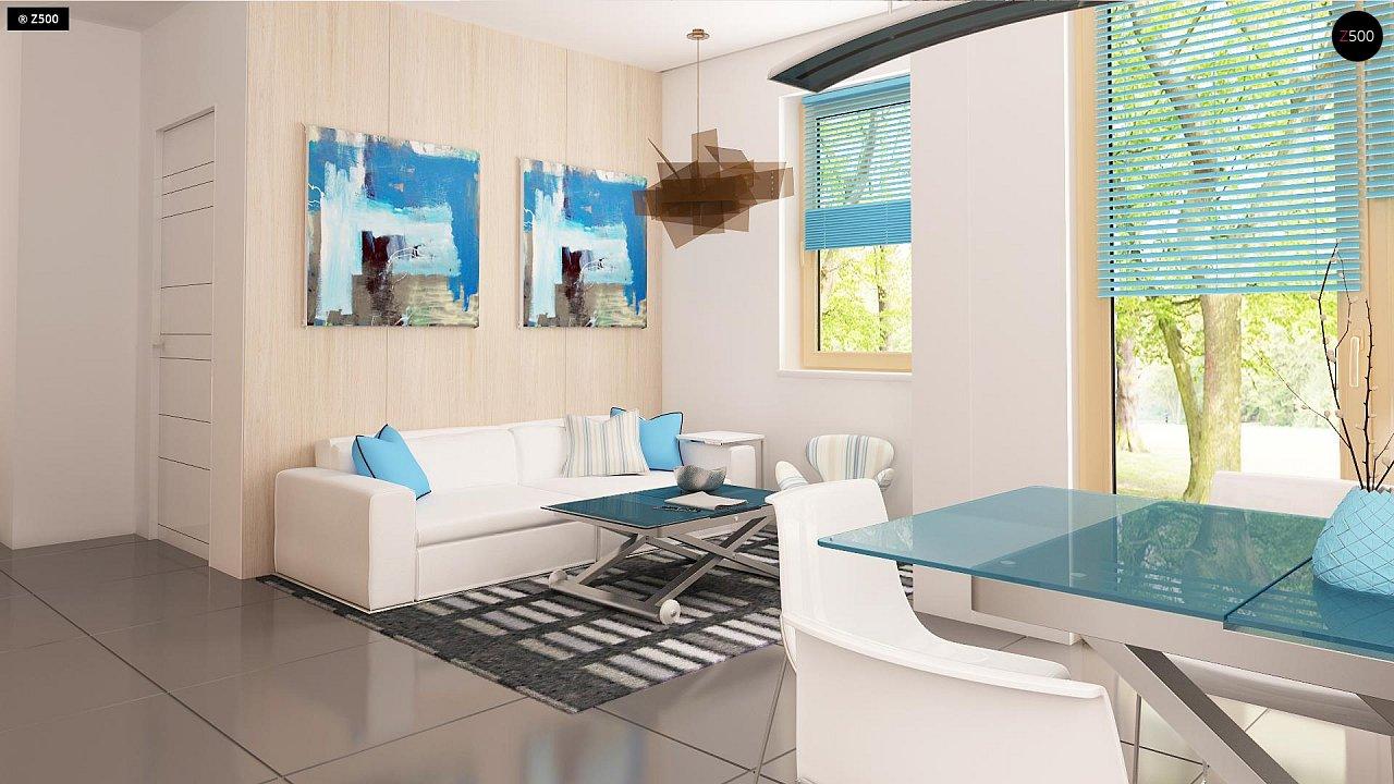 Проект каркасного мансардного дома в классическом дизайне 5