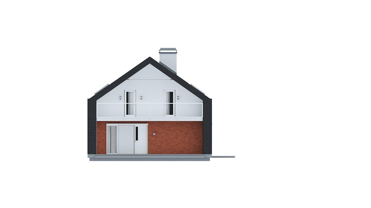 Практичный и уютный дом с модернистскими элементами в архитектуре. 12