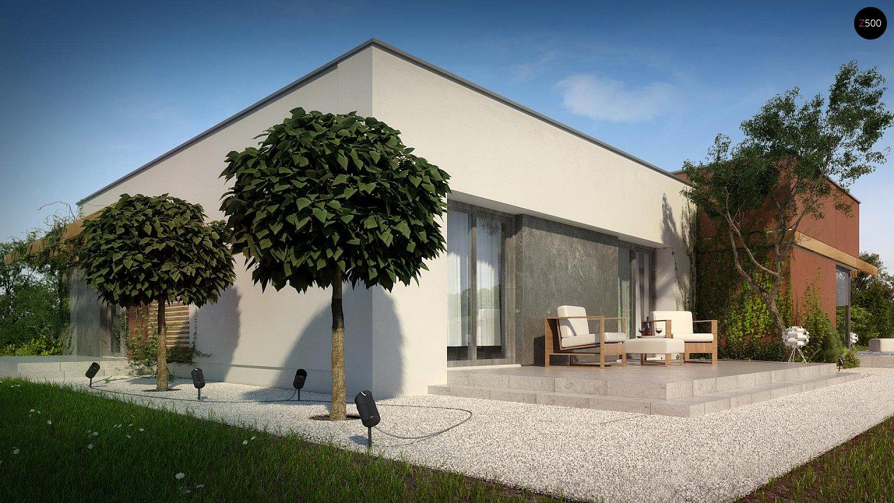 Одноэтажный дом в стиле хай-тек с четырьмя спальнями. - фото 7
