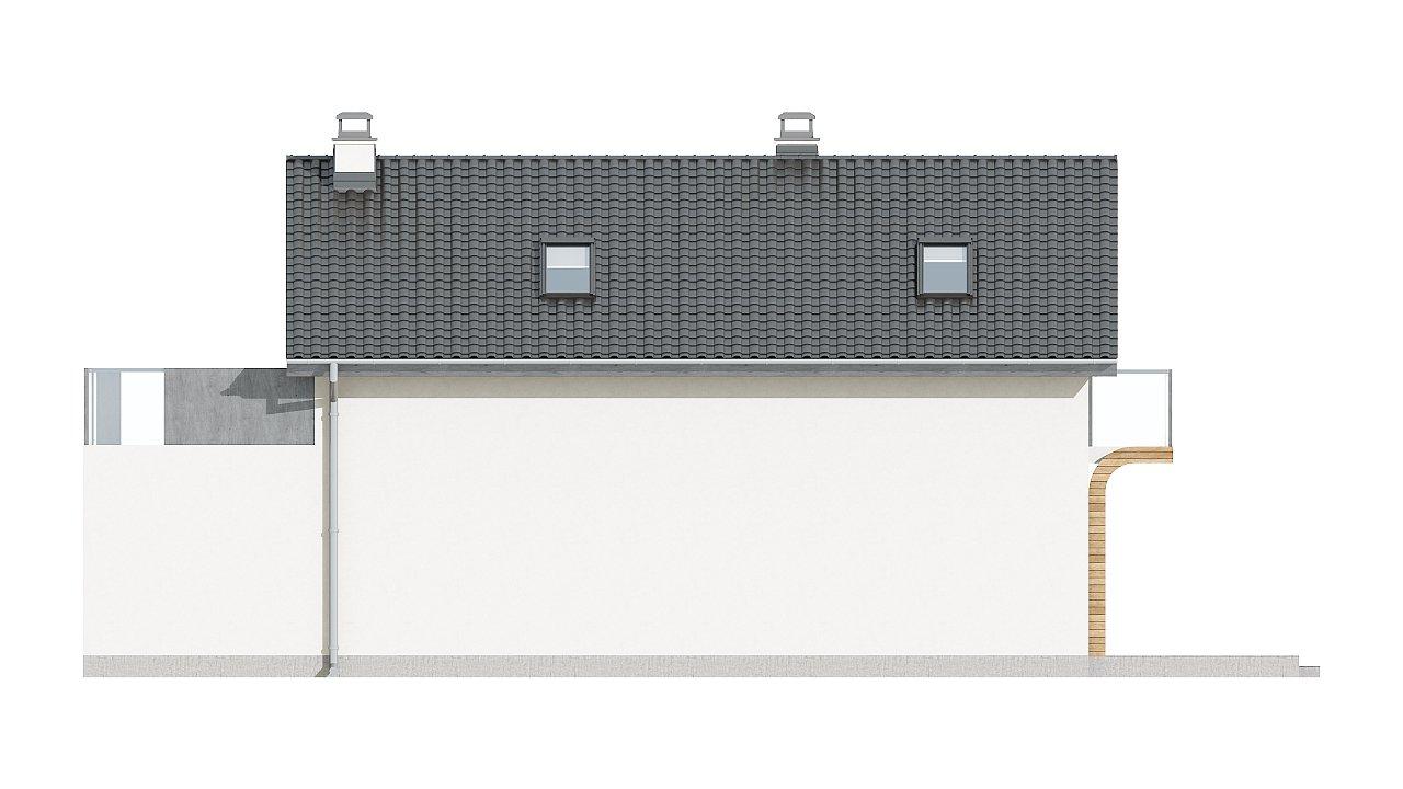 Практичный и уютный дом с оригинальным оформлением фасадов, идеальный для неглубокого участка. - фото 6