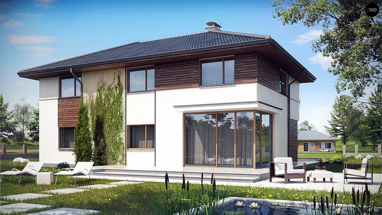 Вариант Z159 просторного двухэтажного дома с плитами перекрытия 2