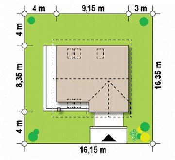 Вариант проекта Z33 без гаража план помещений 1