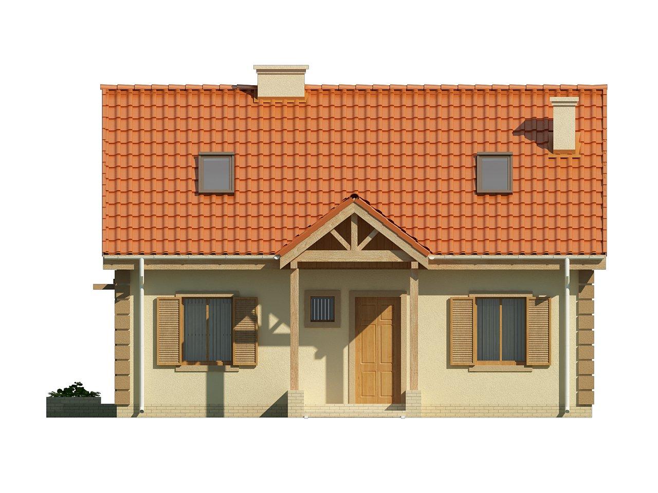 Функциональный и уютный дом с дополнительной спальней на первом этаже. Простой и экономичный в строительстве. 10