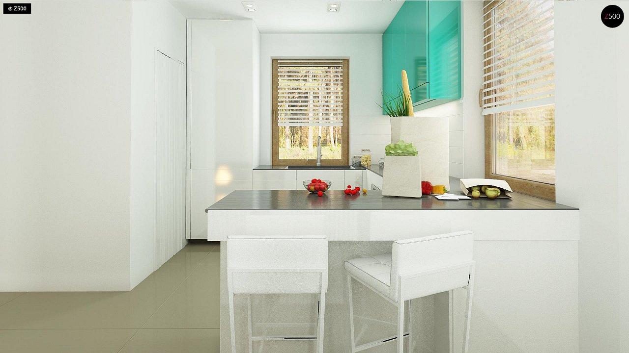 Небольшой стильный и практичный дом с мансардными окнами. - фото 8