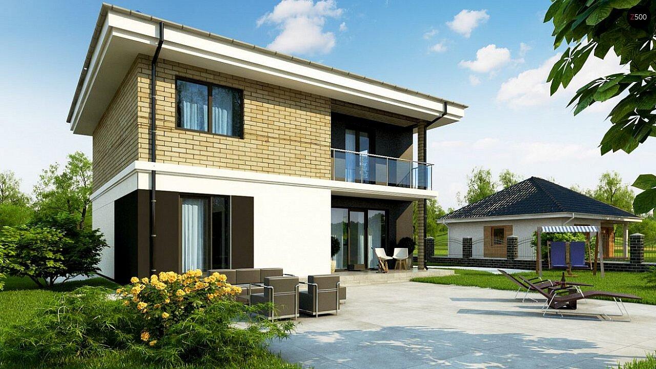 Вариант двухэтажного дома Zz1a с плитами перекрытия 4