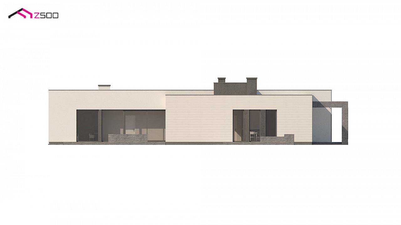 Одноэтажный дом в современном стиле с гаражом на 3 машины, с плоской кровлей 8