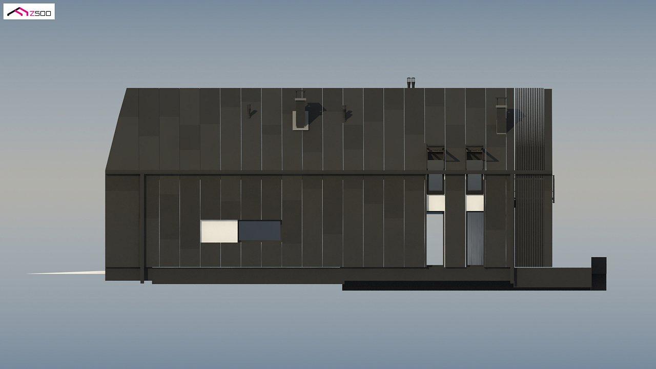 Современный мансардный коттедж для узкого участка - фото 10