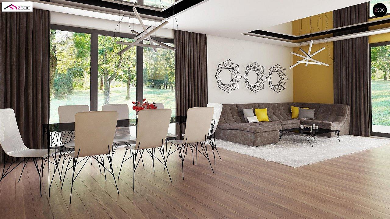 Современный стильный двухэтажный дом, с гаражом для двух машин 7