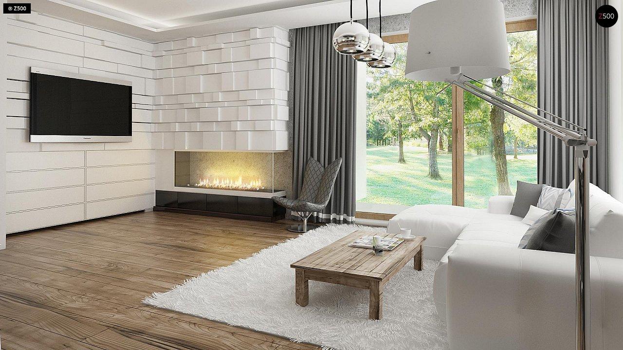 Проект современного дома в стиле хай-тек с двумя спальнями. - фото 11